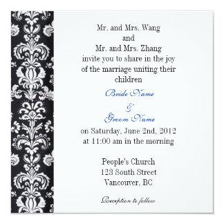 Bride and Groom parents, wedding invitation