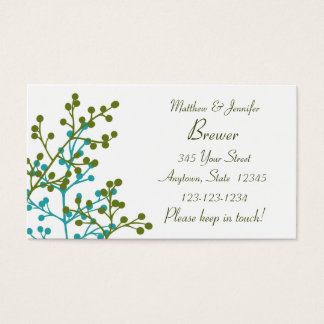 Bride and Groom Personal Contact Information Card