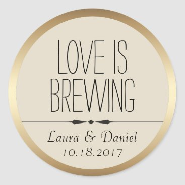 Coffee Themed Bride and Groom Personalized Coffee Label