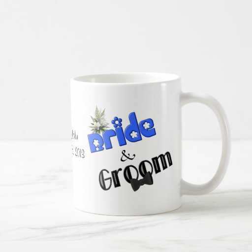 Personalized Wedding Mugs : Bride And Groom Personalized Wedding Coffee Mug Zazzle