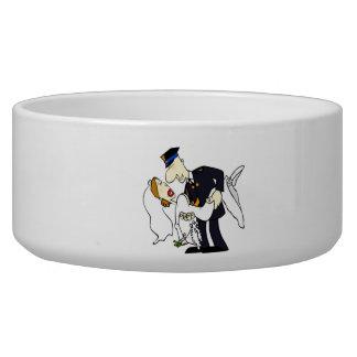 Bride and Groom Pet Food Bowl
