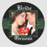 Bride and Groom Photo Sticker