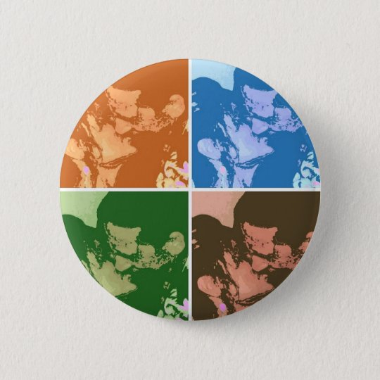 Bride and Groom Pinback Button