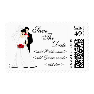 Bride and Groom Postage Stamps