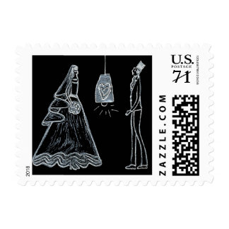 Bride and Groom postage stamp