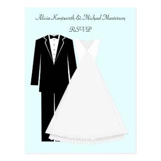 Bride and Groom RSVP Postcard
