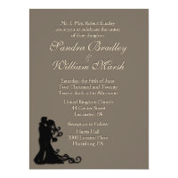 Bride and Groom Sandstone 6.5x8.75 Paper Invitation Card