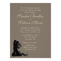 Bride and Groom Sandstone 6.5x8.75 Paper Invitation Card