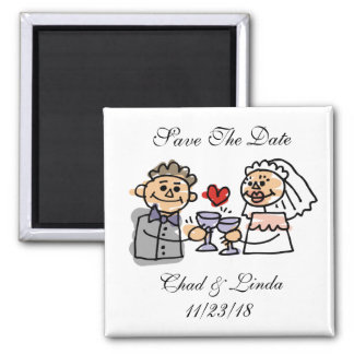 Bride And Groom Save The Date Personalized Magnet