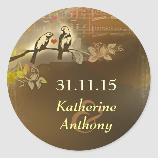 bride and groom save the date sticker