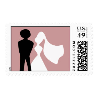 Bride and Groom Silhouette Postage