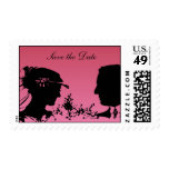 Bride and Groom Silhouette Stamp