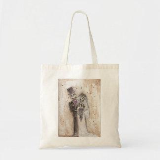 Bride and Groom skeleton couple Tote Bag