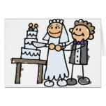 Bride and Groom Slice Cake Card