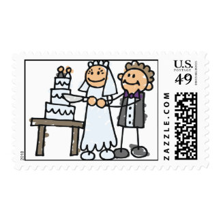 Bride and Groom Slice Cake Postage