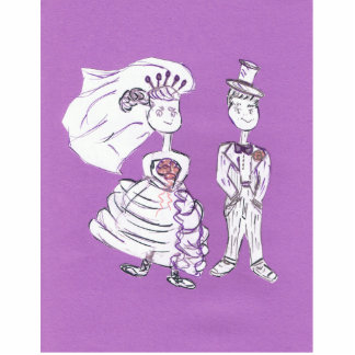 Bride and Groom Statuette