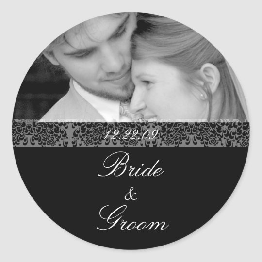 Bride and Groom Sticker With Your Photo