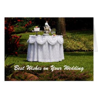 Bride and Groom Table in Hawaii, Wedding Card