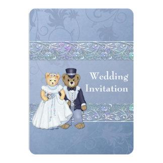 Bride and Groom Teddy Bear Wedding Invitation