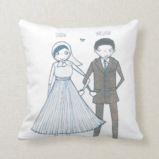 Bride and Groom | Throw Pillow