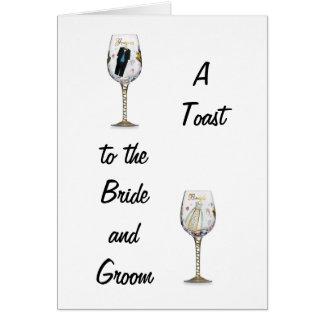 BRIDE AND GROOM TOAST CARD