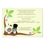 "Bride And Groom Tree Owls Wedding Shower Invite 5"" X 7"" Invitation Card"