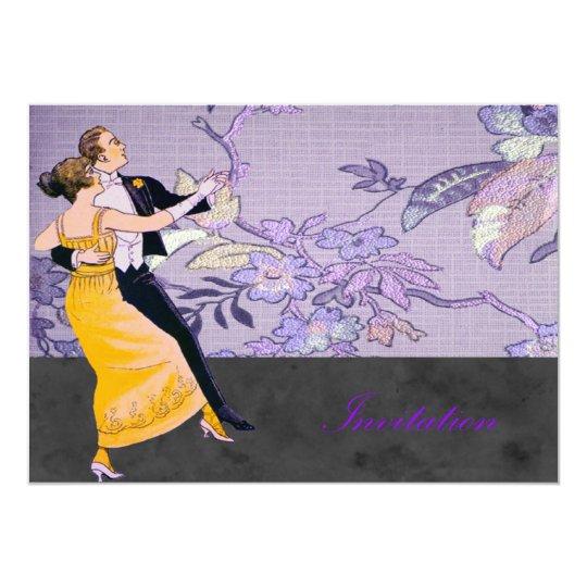 Bride And Groom Waltz Card