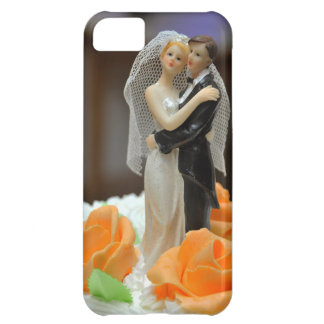 Bride and groom wedding cake topper cover for iPhone 5C