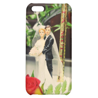 Bride and groom wedding cake topper case for iPhone 5C