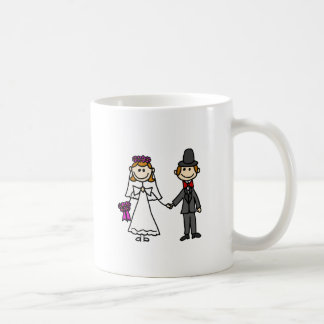 Bride and Groom Wedding Cartoon Coffee Mug