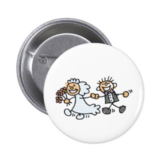 Bride And Groom Wedding Elope Elopement Button