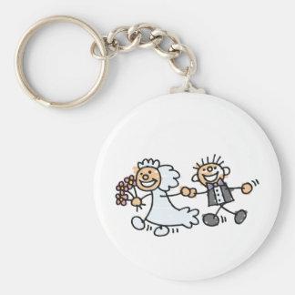 Bride And Groom Wedding Elope Elopement Keychain