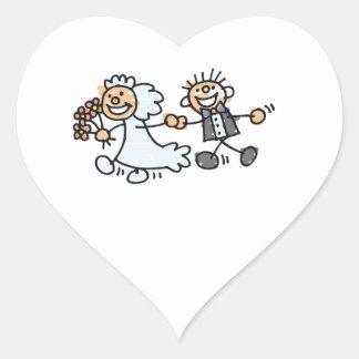 Bride And Groom Wedding Elope Elopement Wedding He Heart Sticker