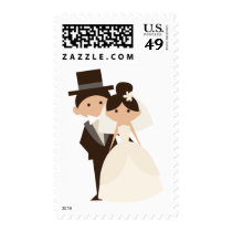 Bride And Groom Wedding, Engagement, Bridal Shower Postage