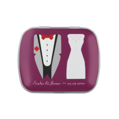 Bride and Groom Wedding Favor Candy Tin at Zazzle