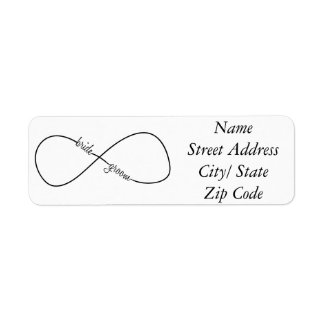 Bride and Groom Wedding Infinity Label
