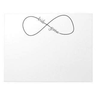 Bride and Groom Wedding Infinity Notepad