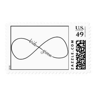 Bride and Groom Wedding Infinity Stamps