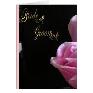 Bride and Groom Wedding Invitation Greeting Card