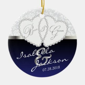 Bride and Groom Wedding Keepsake Ceramic Ornament