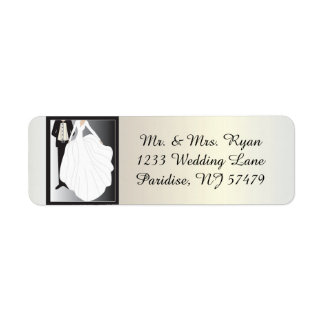 Bride and Groom Wedding Label