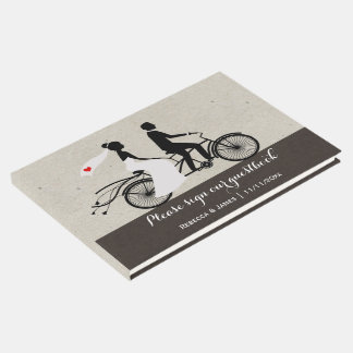 Bride And Groom Wedding Personalized Tandem Bike Guest Book