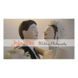 Bride and groom wedding photography business cards