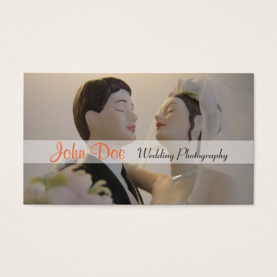 Bride and groom wedding photography business card
