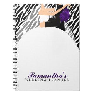 Bride and Groom Wedding Planner {dark purple} Notebooks