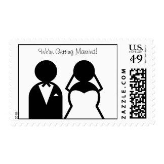 Bride and Groom Wedding Postage