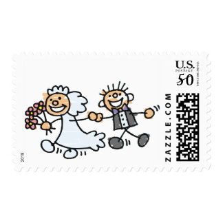 Bride and Groom Wedding Postage