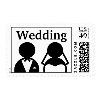 Bride and Groom Wedding Postage Stamps