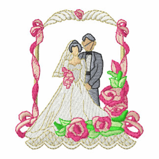 Bride and Groom Wedding Topper Embroidered Hooded Sweatshirts