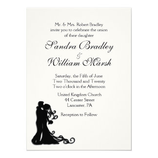 Bride and Groom White Card